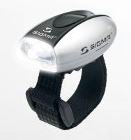 Blikačka SIGMA přední Micro W - stříbrná