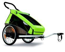 CROOZER KID FOR 1,přívěs, kočárek, Click & Crooz zelený