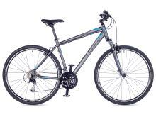 AUTHOR Reflex 2016 matná šedá/modrá krosové kolo