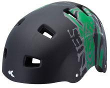 Přilba KED 5Forty černá/zelená matt