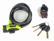 Zámek AUTHOR ASL-25 spir 10x1500mm zelená/černá