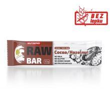 Tyčinka NUTREND RAW BAR, 50g, kakao+lískový ořech