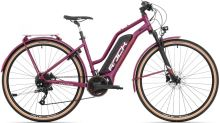 Elektrokolo Rock Machine Crossride e450 Lady Touring mat dark crimson/silver/crimson (500Wh)
