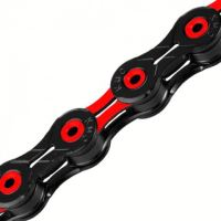 Řetěz KMC X-10 SL DLC červeno/černý v krabičce