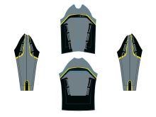 AUTHOR Bunda Blazer (15B černá/šedá/yellow-neon)