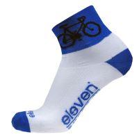Ponožky ELEVEN Howa ROAD vel. 8-10 (L) bílá/modrá