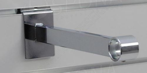 SLAT konzole pro trubku 25, délka 250mm, chrom (47057043)