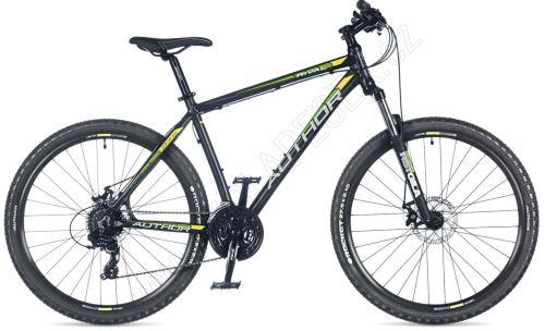 AUTHOR Rival 2018 černá-matná/zelená-neon/žlutá-neon MTB XC 27