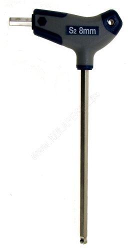 Klíč imbus 8mm s rukojetí kul.vrch