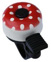 Zvonek mini puntíky červená