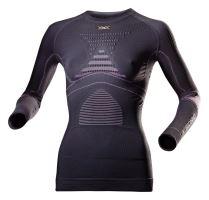 Funkční triko X-BIONIC Acc_EVO Shirt Long Sl.Round Neck Lady- šedá/fialová