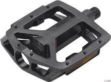 Pedály MAX1 BMX černé hranaté s piny
