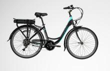 """Elektrokolo LOVELEC Polaris 2020, vel. 17"""", black/mint, nosičová baterie 10Ah, zadní motor"""