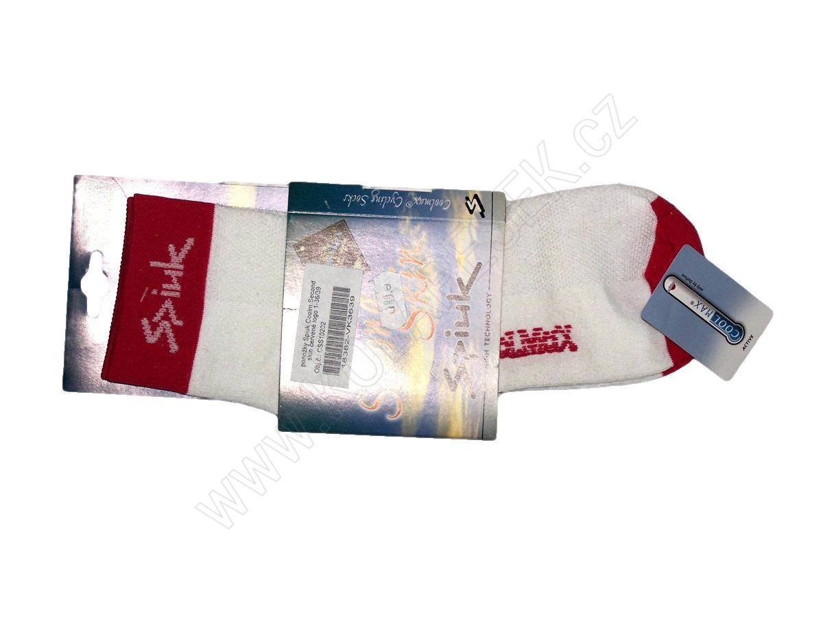 ponožky spiuk coolmsecond skin �erven233 logo 1 kolapesekcz