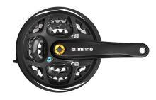 Kliky Shimano Altus FC-M311 175mm 42x32x22 zubů, černé, s krytem , 7/8 speed,pro čtyřhran
