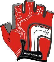 Rukavice FREERACE LYCRA Lady červené