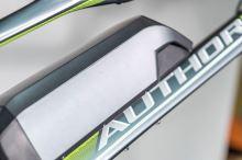 AUTHOR Elevation 2016 matná šedá/zelená MTB E-kolo