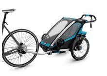 Vozík THULE CHARIOT CTS SPORT1 BLUE 2017, odpružený, s cyklistickým a kočárkovým setem