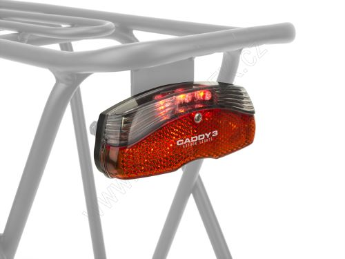 AUTHOR Světlo zad. A-Caddy 3  (černá/červené-sklo)