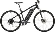 Elektrokolo Rock Machine Cross e350 + bat. 504 wh, mat black/silver/dark grey 2018