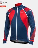 Cyklistická bunda KALAS TITAN X8 Mission Light červená/modrá