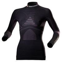 Funkční triko X-BIONIC Acc_EVO Shirt Long Sl.Turtle Neck Lady-šedá/fialová