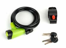 Zámek AUTHOR ASL-41 spir 8x1500mm zelená/černá