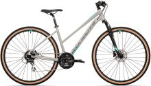 kolo Rock Machine CrossRide 300 lady (M) gloss light grey/dark grey/mint 2021