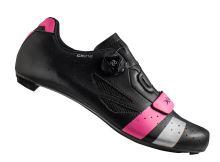 Tretry LAKE CX218 Carbon černo/růžovo/stříbrné vel.42
