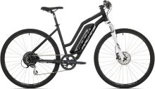 Elektrokolo Rock Machine Cross e350 lady +bat.504 wh, mat black/silver/white 2019