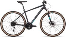 kolo Rock Machine CrossRide 700 (M) mat black/dark grey/petrol blue 2021