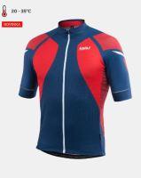 Cyklistický dres KALAS TITAN X8 krátký rukáv, červený/modrý