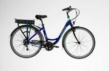 """Kolo LOVELEC Capella 2019 vel. 19"""", blue/mint, nosičová baterie 10Ah, 250W, zadní motor"""