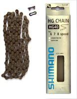 Řetěz Shimano CNHG40 šedý balený +spojka 8k