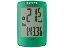 CATEYE Cyklopočítač CAT Padrone (PA100W)  (zelená)